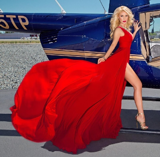 gretchen rossi red dress
